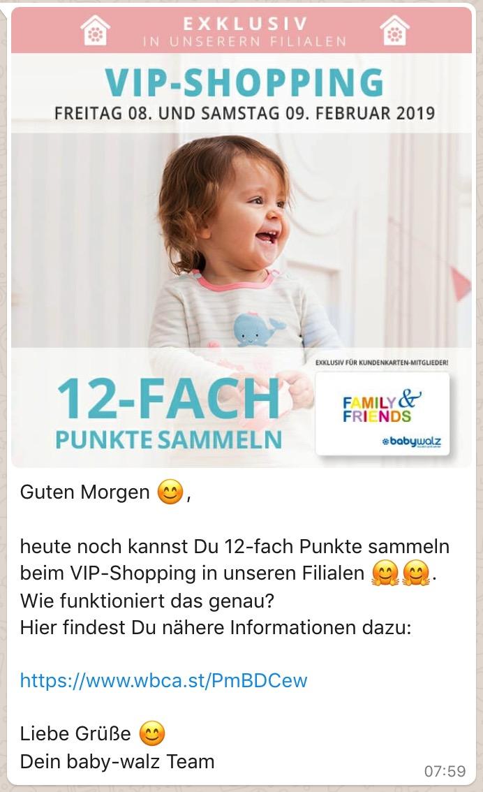 Whatsapp Beispiel Babywalz