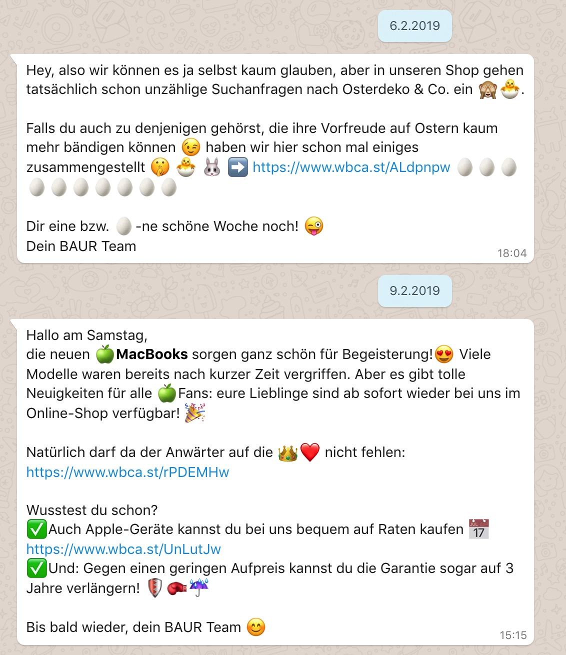 Whatsapp Beispiel Baur