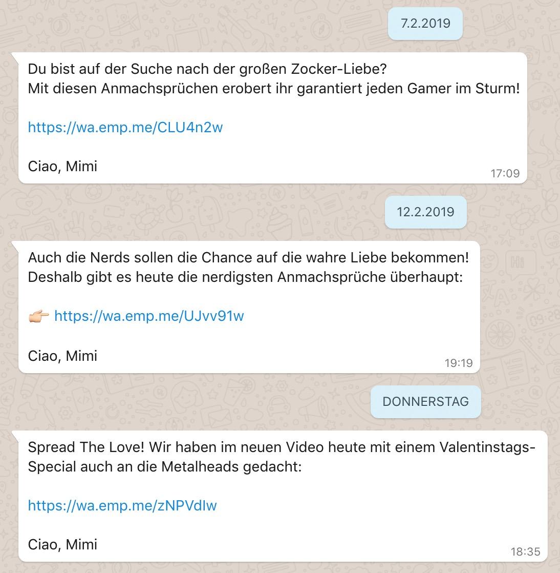 Whatsapp Beispiel EMP
