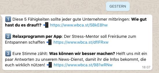 Whatsapp Beispiel Handwerk