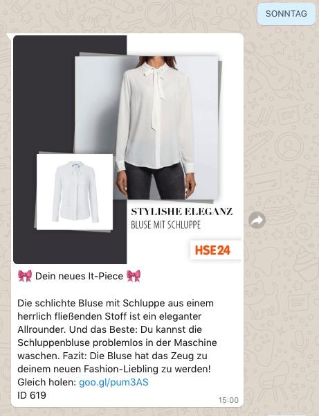 Whatsapp Beispiel HSE24