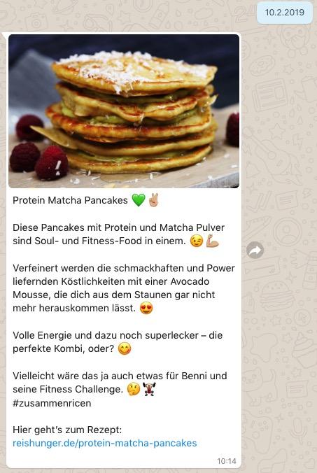 Whatsapp Beispiel Reishunger