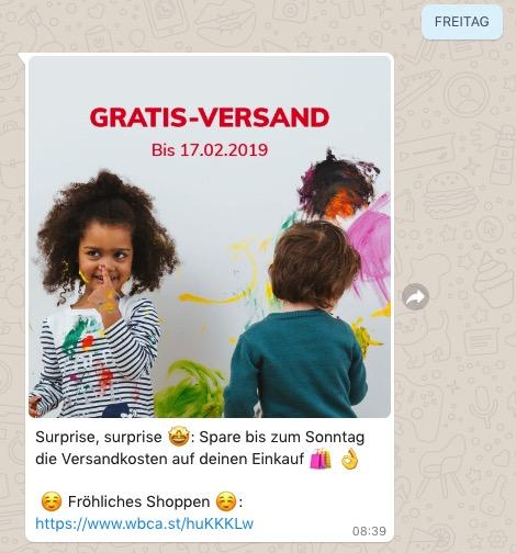 Whatsapp Beispiel vertbaudet