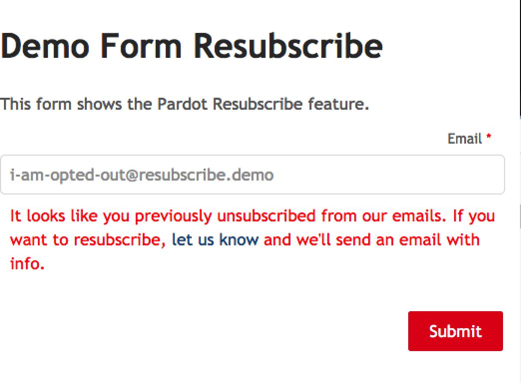 Salesforce Pardot Resubscribe Process