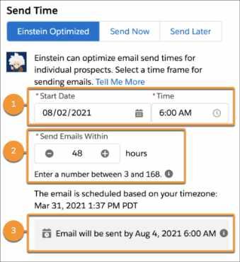 Einstein Send Time Optimization